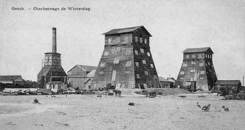 shaft sinking at the mine of Winterslag