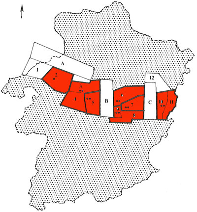 map of the Limburg mine concessions